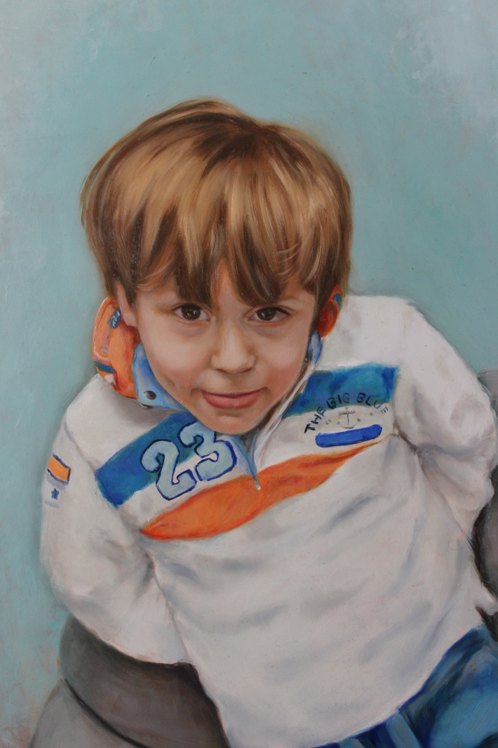 Lorenzo, oil on panel (60 x 35 cm)