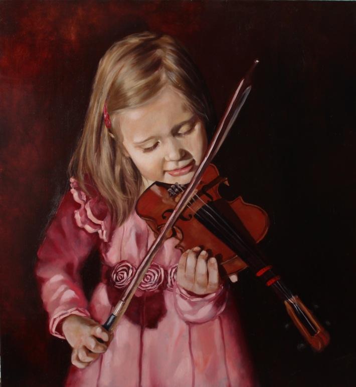 Olivia, oil on panel (60 x 60 cm)