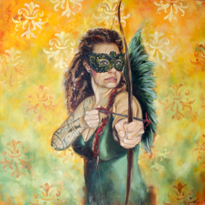 The Love Warrior, oil on canvas (100 x 100 cm)